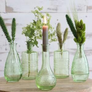 Originales Botellas de Cristal para flores