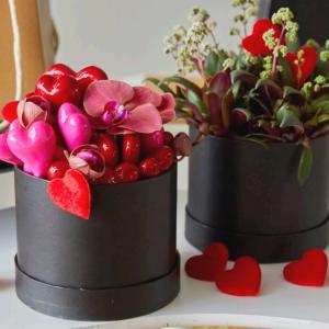 Caja Sombrero con Tapa para flores